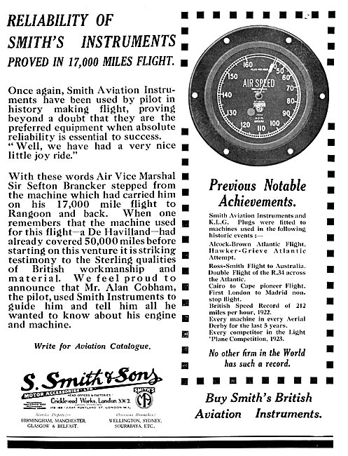 Smiths Aircraft Instruments Airspeed Indicator