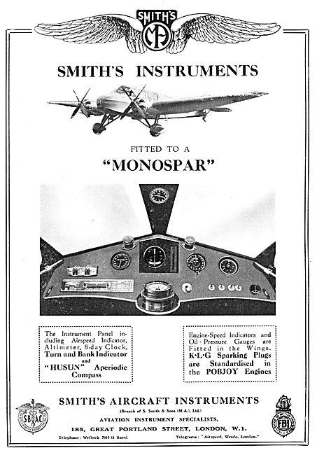 Smiths Aircraft Instrumets Monospar