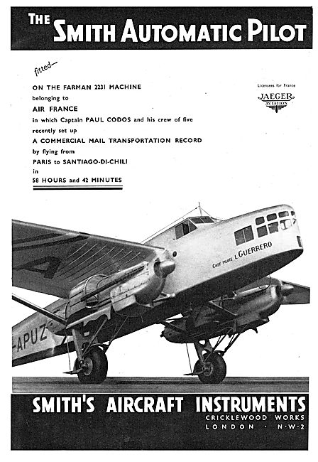 Smiths Aircraft Instruments - The Smith Automatic Pilot