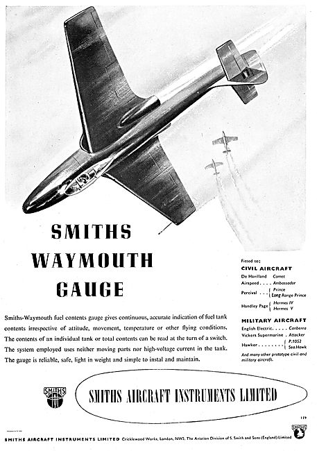 Smiths-Waymouth Fuel Contents Gauge