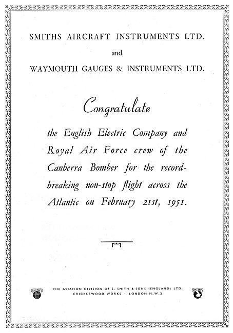 Smiths Aircraft Instruments - Waymouth Gauges