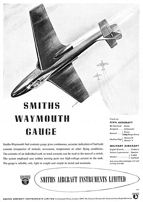 Smiths Waymouth Fuel Contents Gauge