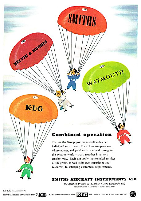 Smiths - KLG - Kelvin & Hughes - Waymouth Aircraft Instruments