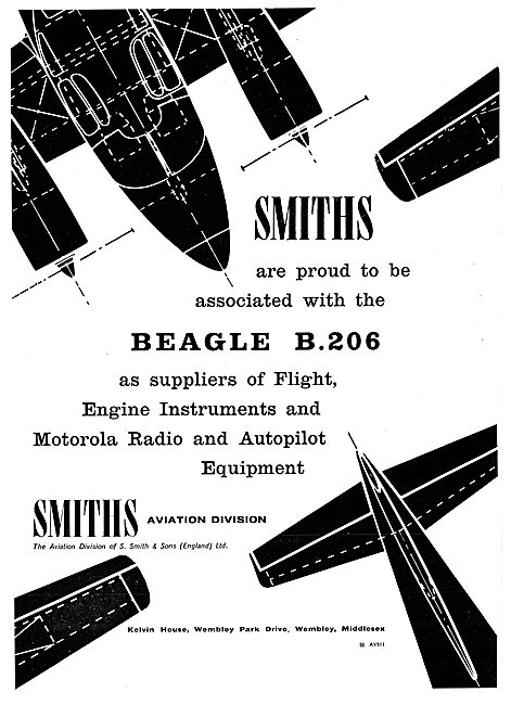 Beagle 206 Flight & Engine Instruments Supplied By Smiths