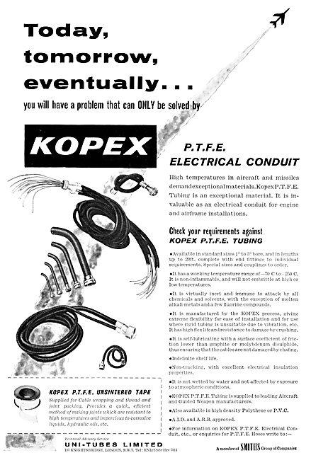Smiths KOPEX PTFE Electrical Conduit. Uni-Tubes