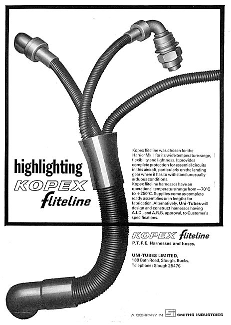 Smiths Uni-Tubes Kopex Fliteline Hoses