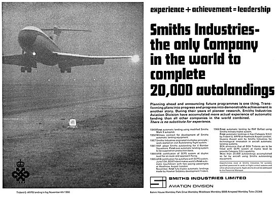 Smiths Flight System Achievements