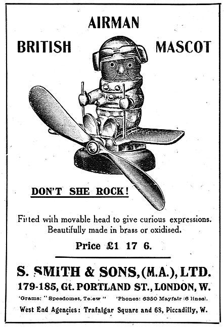 Smith's British Airman Car Mascot. Don`t She Rock!