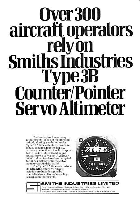 Smiths Industries Aviation Division : Smiths 3B Servo Altimeter