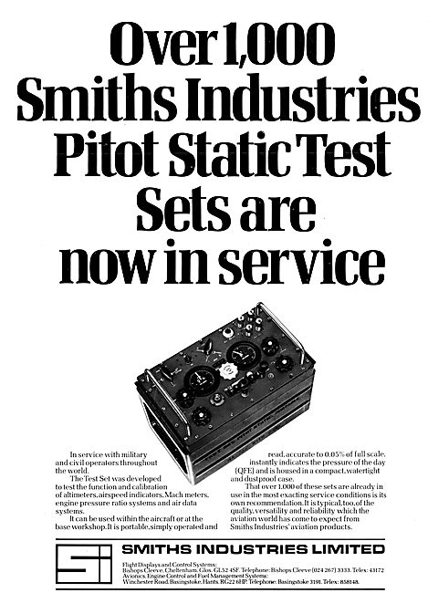 Smiths Industries Aviation Division : Pitot Static Test Sets