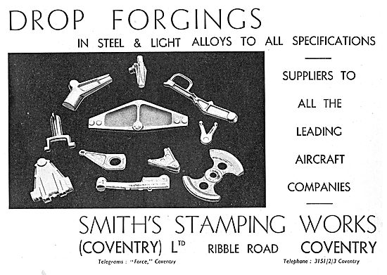 Smith's Stamping Works. Drop Forging In Steel & Light Alloys