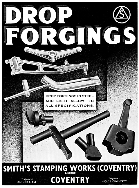 Smiths Stamping Works. Drop Forging In Steel & Light Alloys
