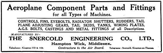 Snercold Engineering - Aircraft Sheet Metal Work & Parts