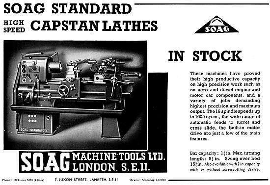 Soag Machine Tools - Soag Standard Capstan Lathes