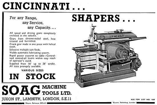 Soag Machine Tools - Cincinnati Shaper
