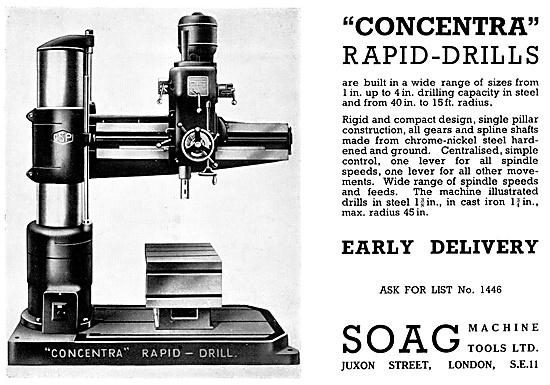 SOAG Concentra Rapid-Drills - SOAG Machine Tools 1940