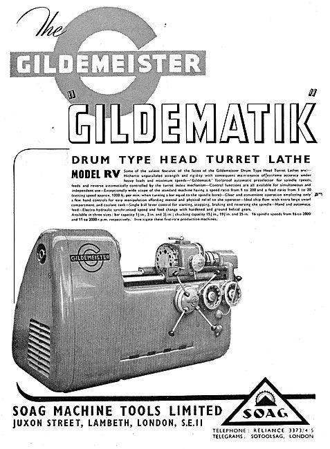 Soag Machine Tools: Drum Head Turret Lathe Model RV