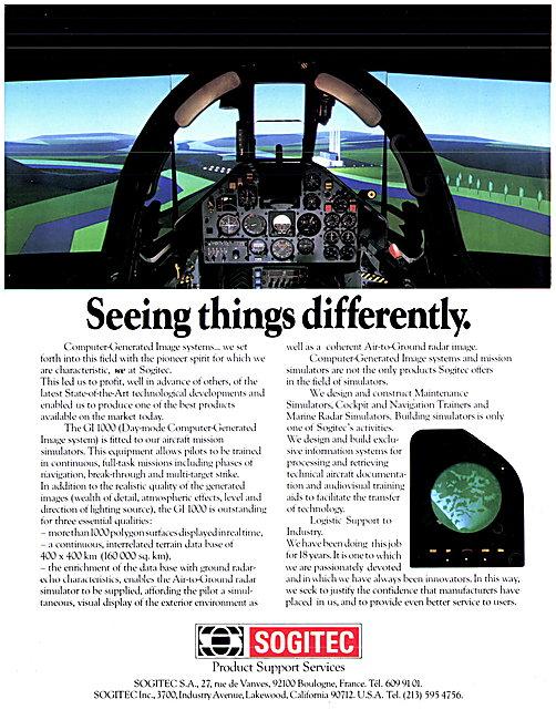 Sogitec Flight Simulation & Training Aids. GI 1000 CGI