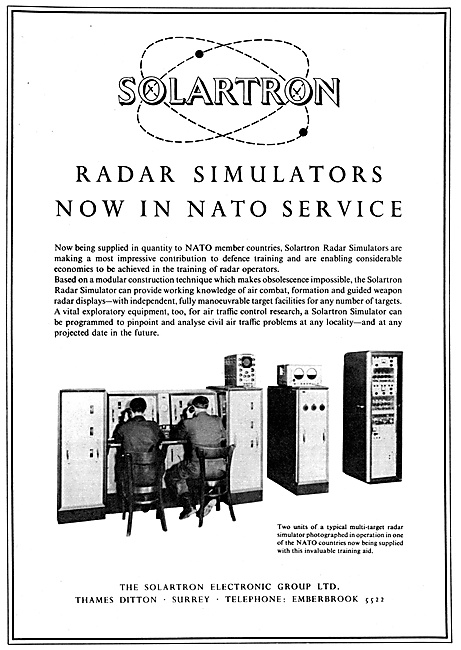 Solartron Air Defence Radar Simulators - Solartron Computers