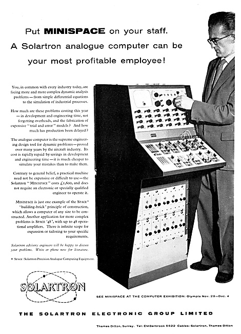 Solartron MINISPACE Analogue Computer 1958