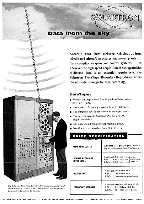 Air Traffic Control Data Recorders 1959