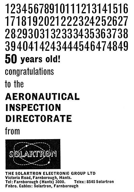 Solartron Electronic Group. Farnborough
