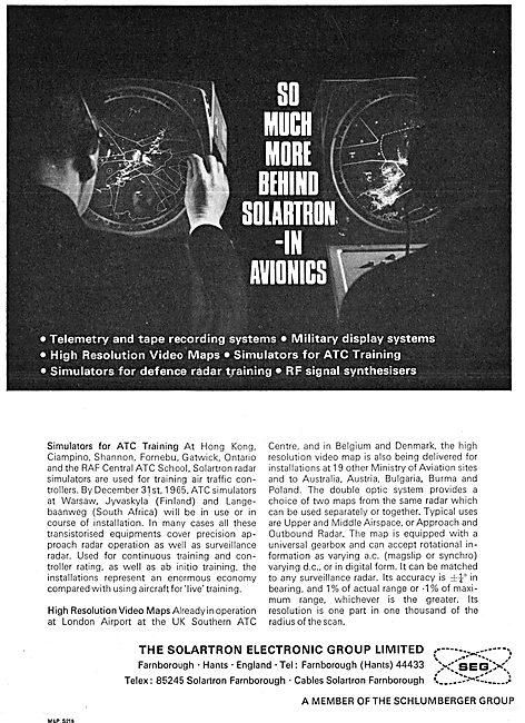 Solartron Air Traffic Control Simulators 1965