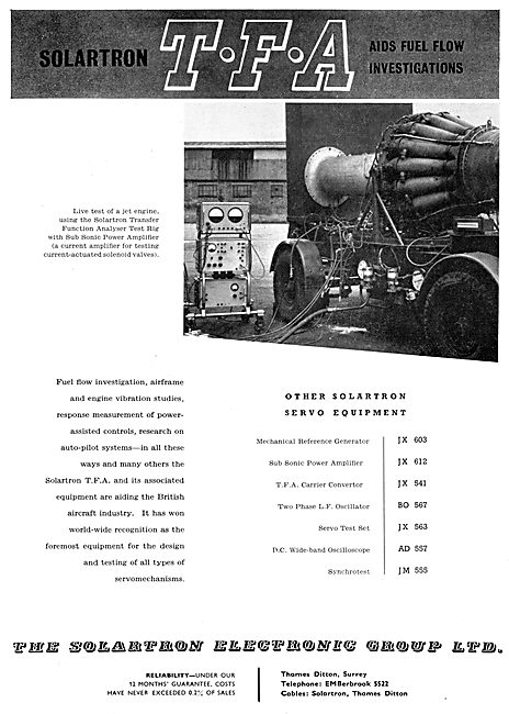 Solartron Electronics & Test Equipment