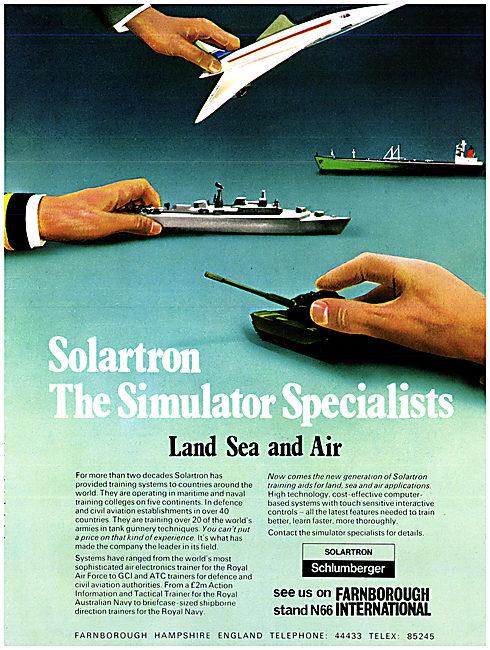 Solartron Schlumberger ATC & Flight Simulators