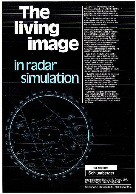 Solartron Schlumberger Air Traffic Control Radar Simulators