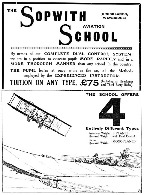 The Sopwith Aviation School Brooklands 1912