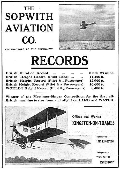 Sopwith Aeroplane Records