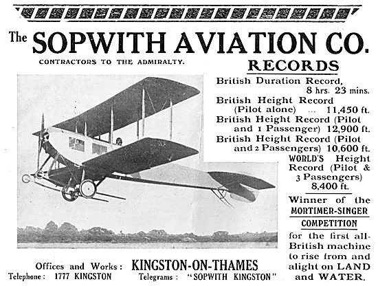 Sopwith Air Records