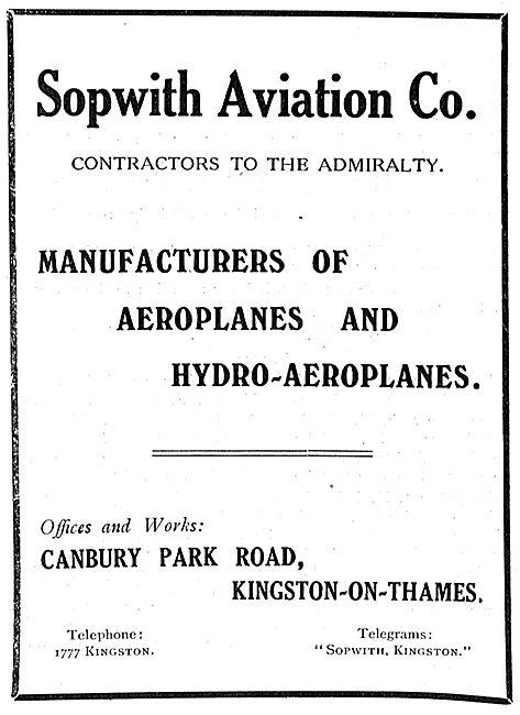Sopwith Aviation Co - Canbury Park Road Kingsaton-On-Thames