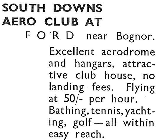 South Downs Aero Club Ford Near Bognor