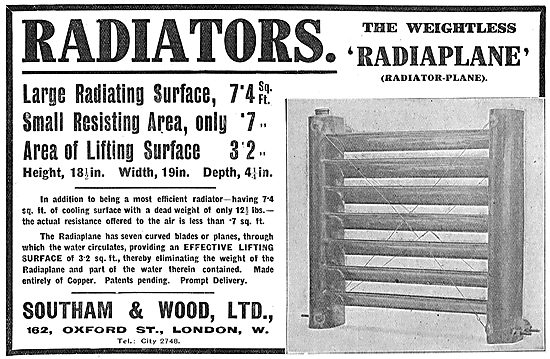 Southam & Wood Aeroplane Engine Radiators