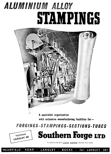 Southern Forge - Aluminium Alloy Stampings 1952
