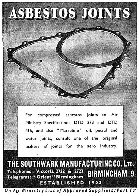 Southwark Manufacturing Asbestos Joints