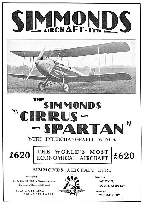 The Simmonds Cirrus Spartan With Interchangeable Wings