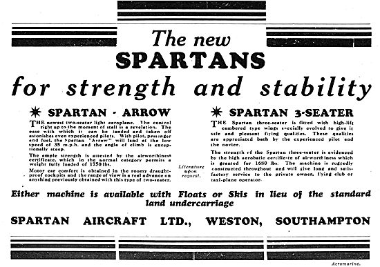 Simmonds Sparton Arrow - Simmonds Spartan 3-Seater