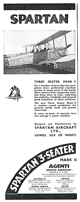 Spartan Three Seater Mark II Aeroplane G-ABTR