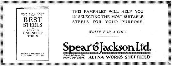 Spear & Jackson. Steelmakers. Aetna Works Sheffield