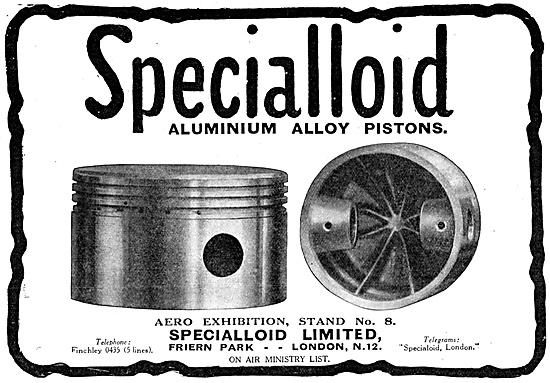 Specialloid  Aero Engine Pistons
