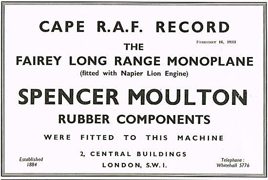 Spencer Moutlon Rubber Components On The Fairey Long Range Monopl