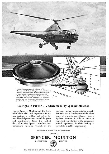 Spencer Moulton Engineers In Rubber. Sikorsky S51 Anti Vibration
