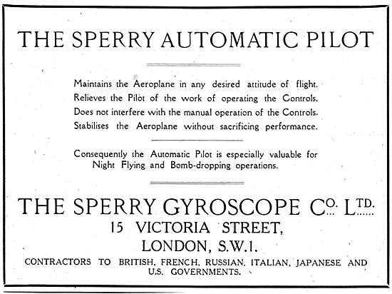 The Sperry Automatic Pilot