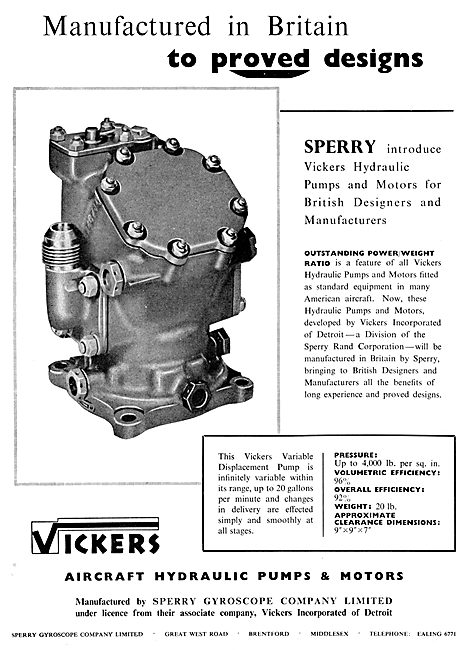 Sperry Vickers Hydraulic Pumps & Motors