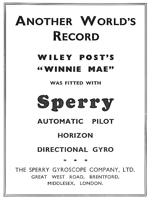 Wiley Posts Winnie May Fitted With Sperry