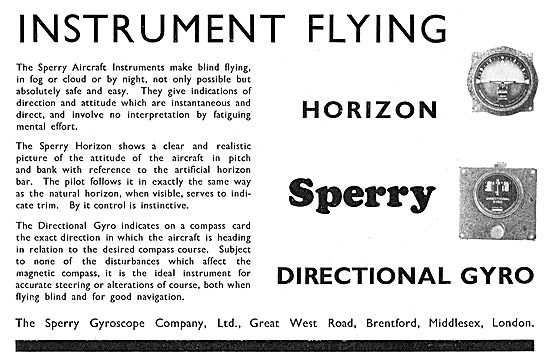 Sperry  Blind Flying Instruments