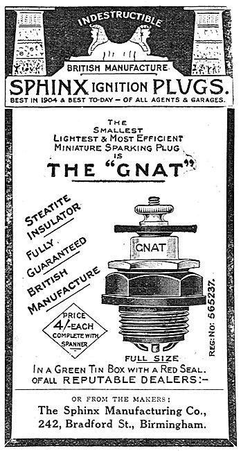 Sphinx Aero Ignition Plugs - The Gnat
